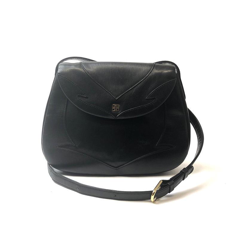 GIVENCHY ジバンシィ ロゴ パターン  ショルダーバッグ ブラック vintage ヴィンテージ オールド