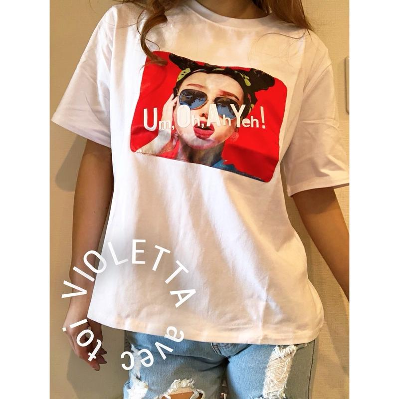Um,Oh,Ah,Yeh!Tシャツ☆WHITE