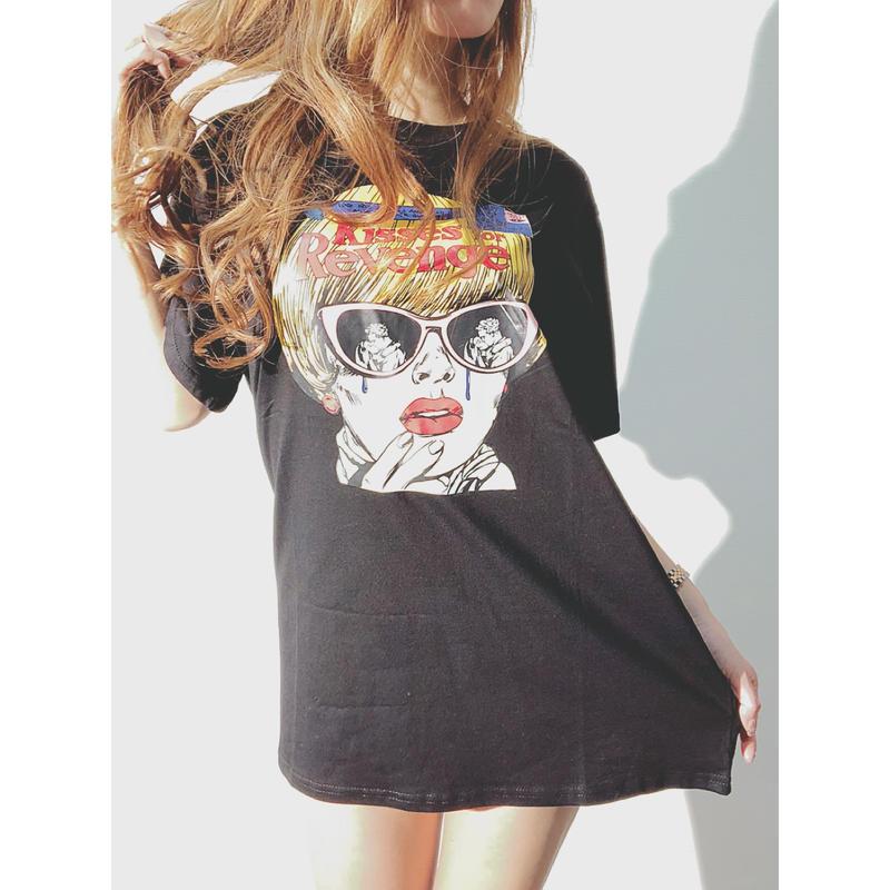 ユニセックス♡Kisses♡Tシャツ♡BLACK