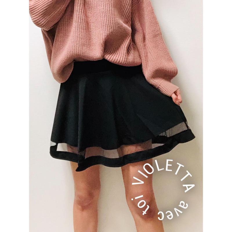 裾シースルー♡スカート