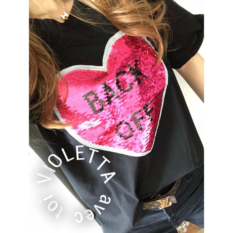 HEART♡スパンコール♡Tシャツ