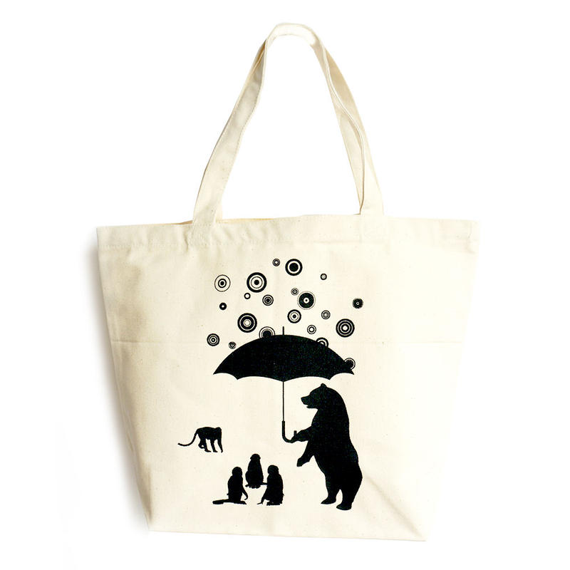 Bear Raindrops / Tote Bag