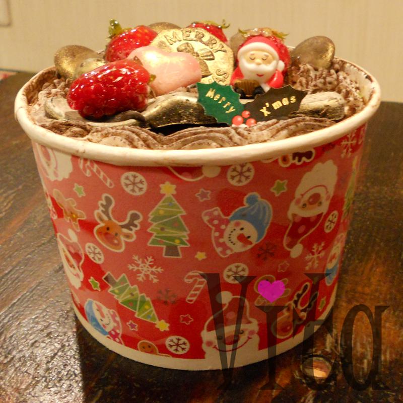 クリスマスアイスケーキ・バケツタイプ【小麦・卵・乳製品不使用のソルベ】