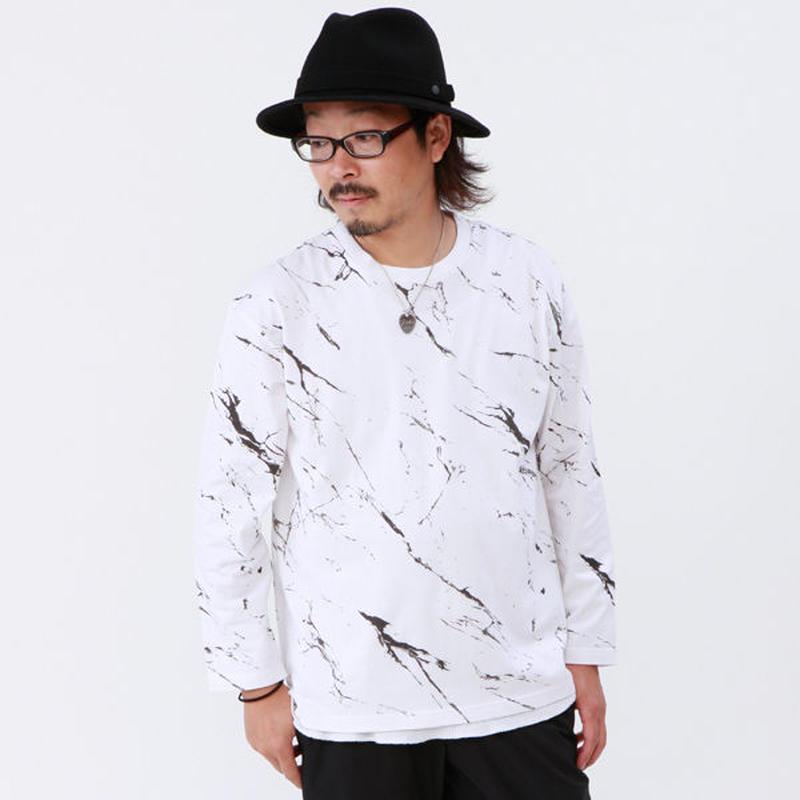 ビッグシルエット!マーブルスプラッシュTシャツ(83UTL102)