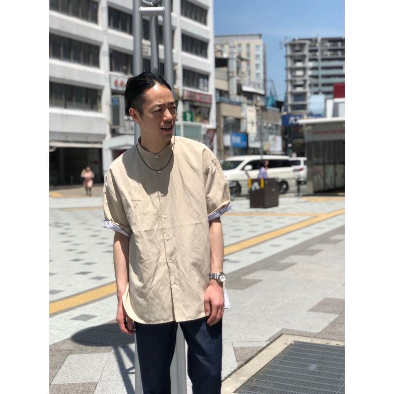 ビッグシルエットバンドカラーシャツ(91FBS104)