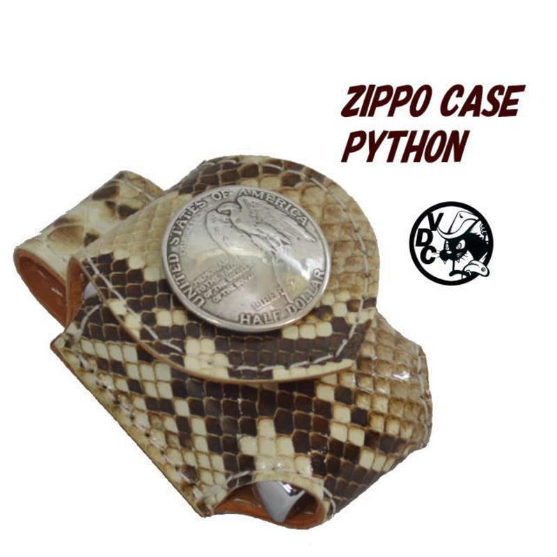 ZIPPOケース ヘビ革 ライターケース パイソン革 ベルト用 コインコンチョ 19020102