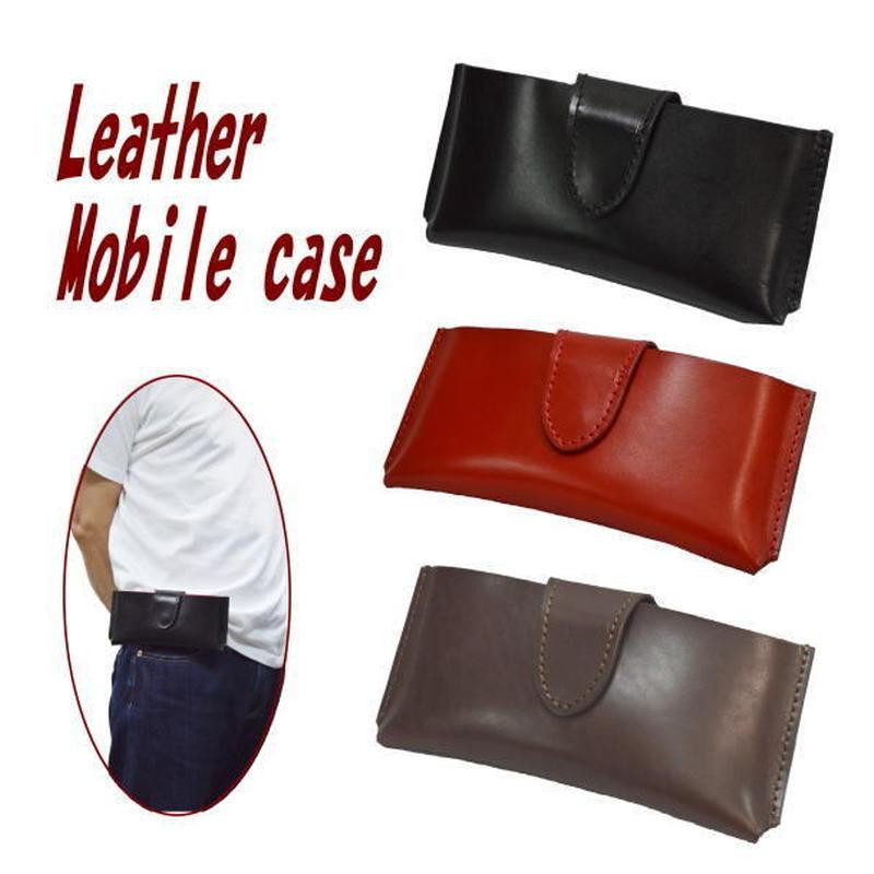 携帯ケース ウエストポーチ スマホケース カラー オイルレザー 18082901