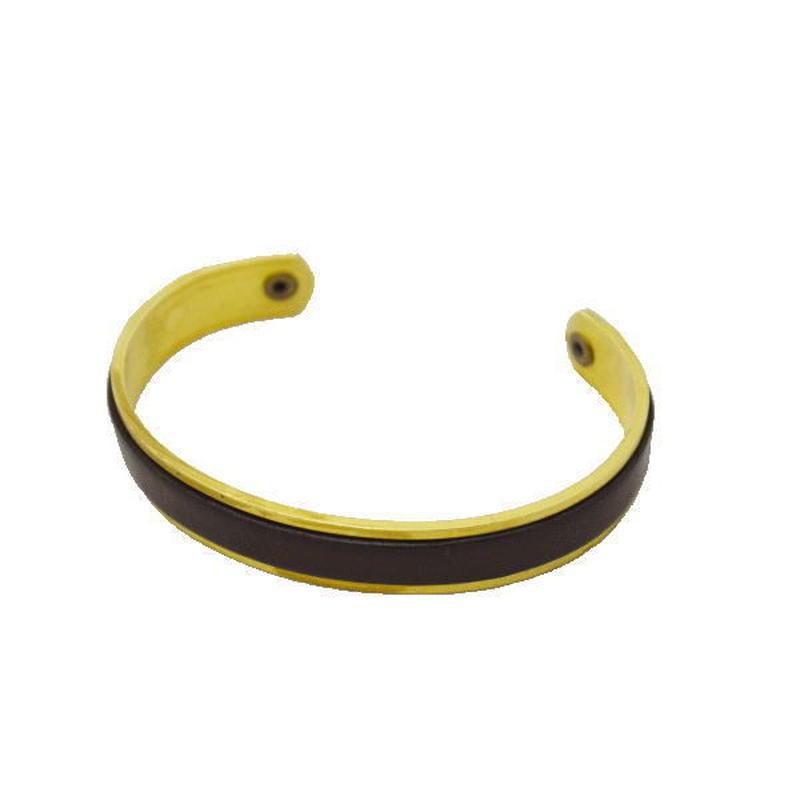 真鍮×レザーブレス メンズ  ハンドメイド 10005883