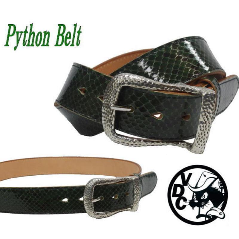 ベルト メンズ ヘビ革 ダイヤモンドパイソン GREEN 40mm幅 ギャリソン 19020201