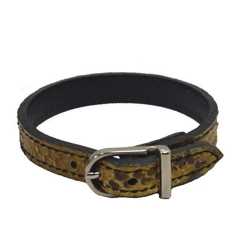 蛇革 ブレス メンズ レディース パイソン ベルトブレス 19020401
