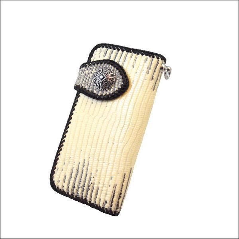 リザードスキン(トカゲ革) バイカーズウォレット(長財布)  10005321