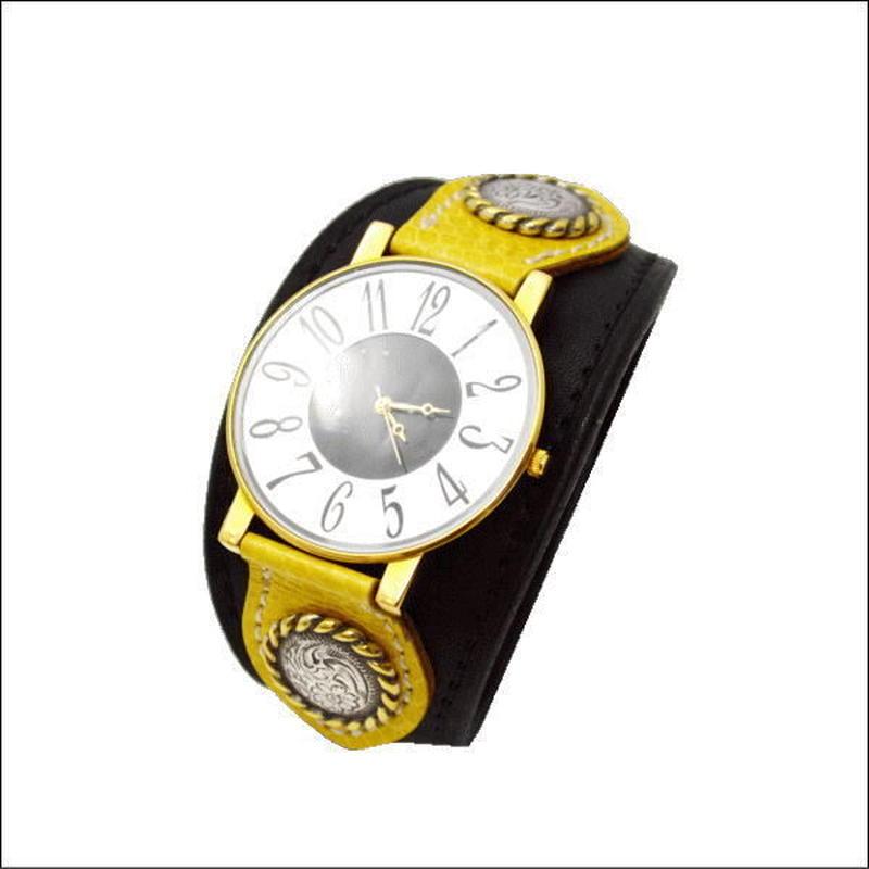 レザー(牛革) 水蛇  腕時計(リストウォッチ)10006670
