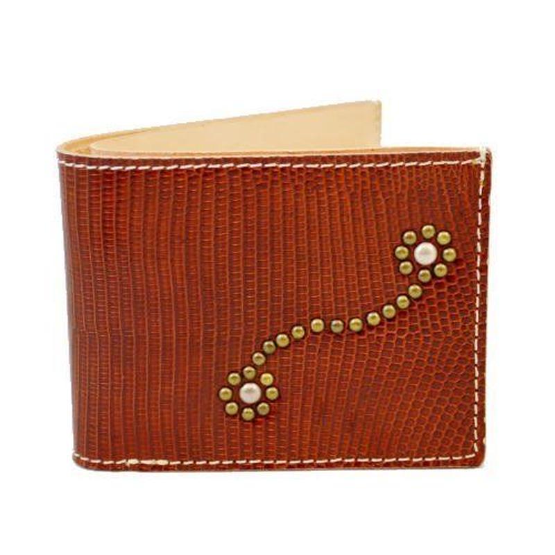 フラワースタッズ リザードスキン(トカゲ革)ウォレット(二つ折財布) 10005201