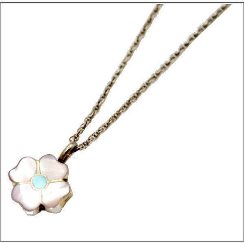 シルバーネックレス ピンクシェルのお花のネックレス 10006939