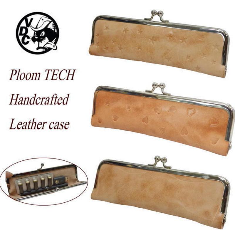 プルームテック ケース Ploom TECH 革 牛革 ヌメ革 レザークラフト がま口 ガマグチ 18101101