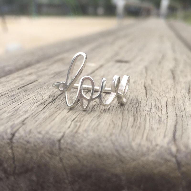 Love (L) リング 925シルバー