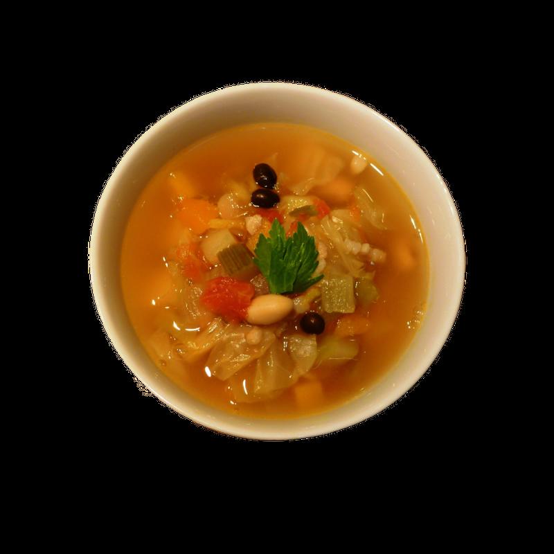 豆と野菜のミネストローネ