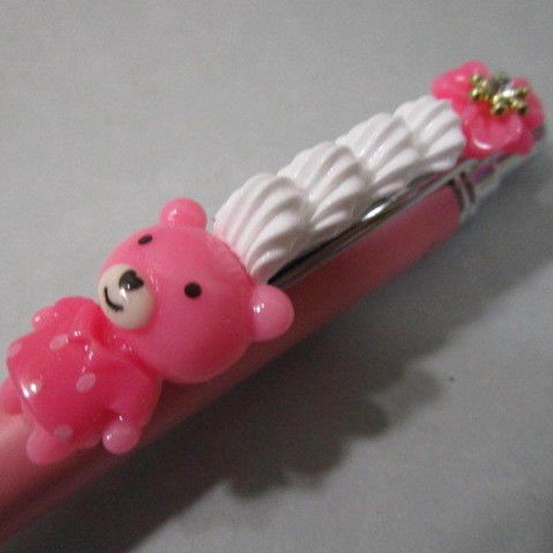くまデコホイップ ピンク/ピンク お花とピンクボールペン豪華版