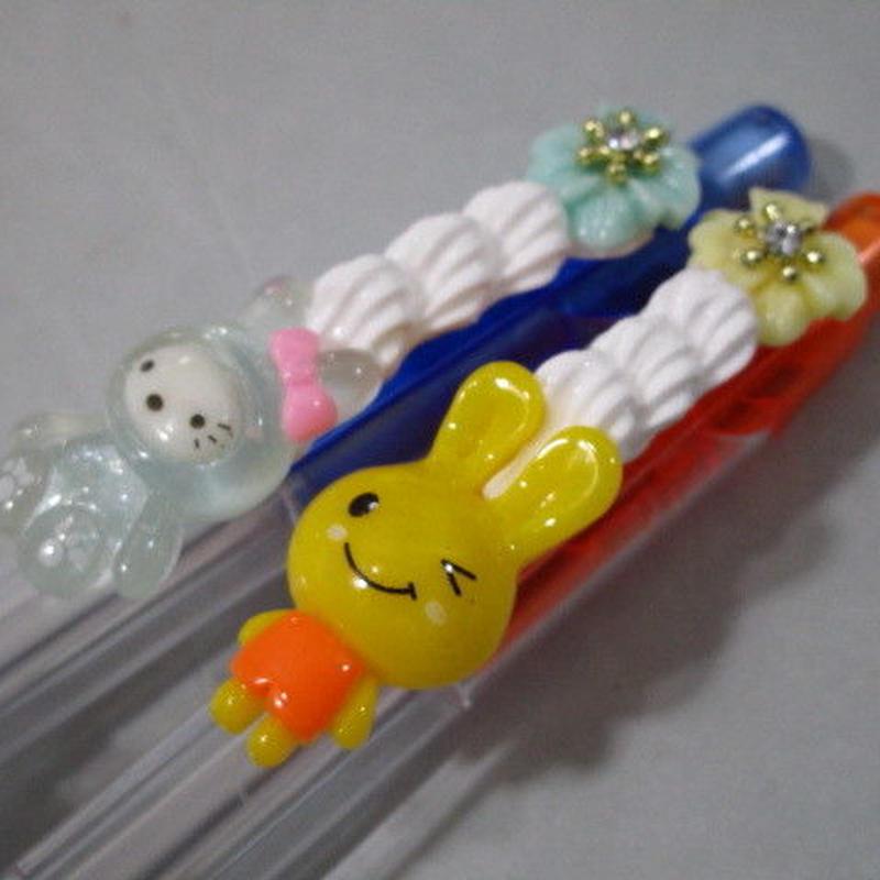 うさデコホイップシャープペン お花豪華版 2本セット