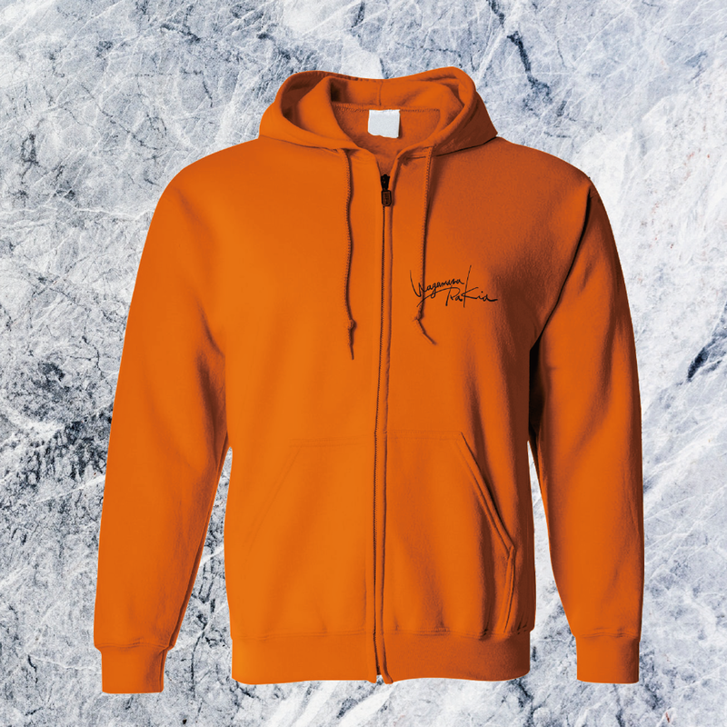 Rakia Zip up parka  -Orange-