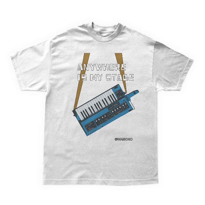 ショルダーシンセTシャツ(青)