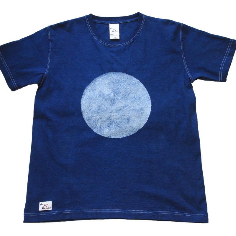 型染め「○柄 」 藍染めTシャツ