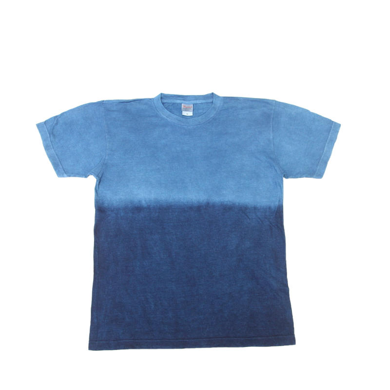 藍染めTシャツ 浅葱色(あさぎいろ)と渋藍(しぶあい)