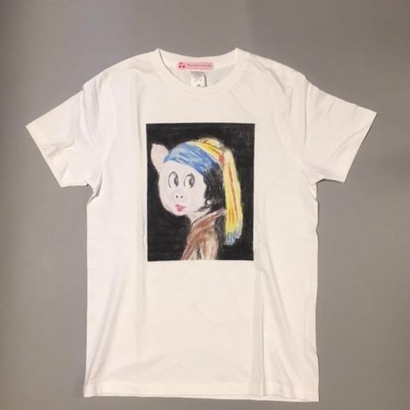 """BOOKO THE MUSE """"PEARL EARRING"""" WHITE ぶーこミューズ真珠の耳飾り ホワイト"""