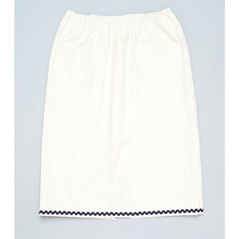 HEART POCKET SKIRT BEIGE X WHITE ハートポケットスカートベージュホワイト