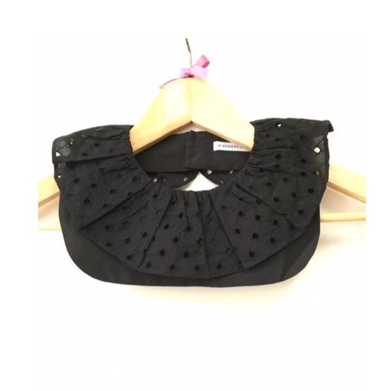 Ruffle Collar Cotton Lace Black ラッフルカラー コットンレースブラック