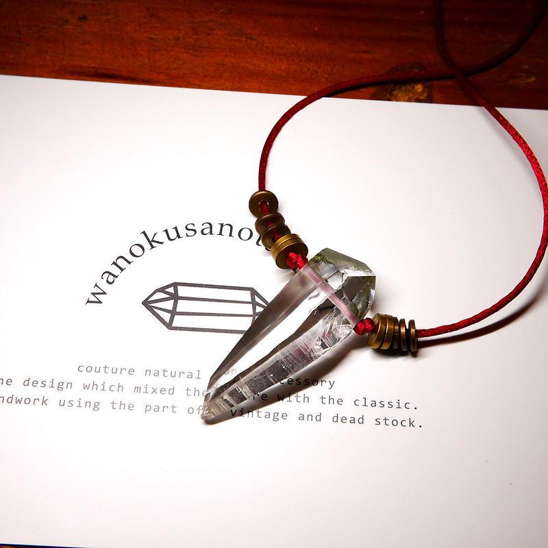ガネーシュヒマール産ヒマラヤ水晶 真鍮パーツネックレス SRL