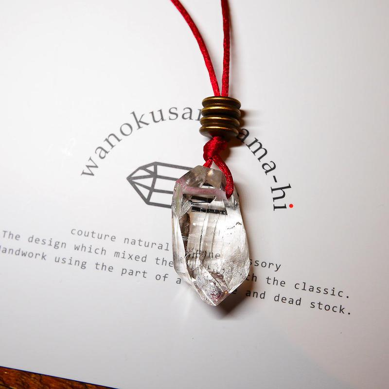 ガネーシュヒマール産ヒマラヤ水晶 真鍮パーツネックレス SRC