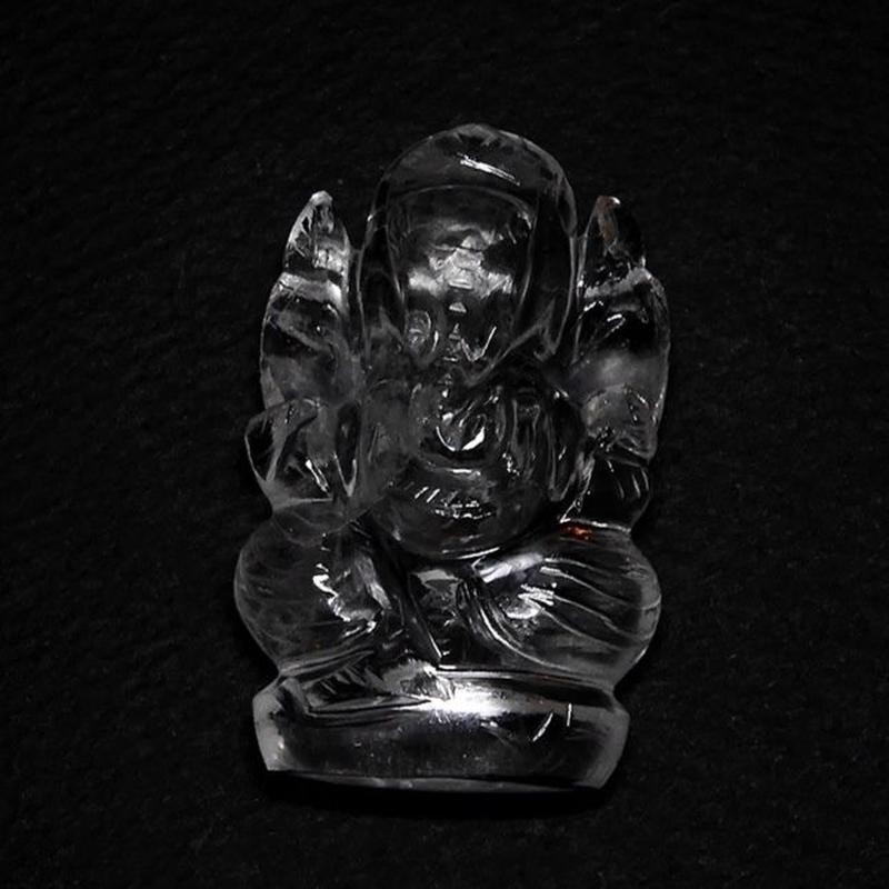 ガネーシャ像 ヒマラヤ水晶 (32g)