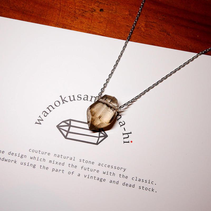 ガウリシャンカール産ヒマラヤ水晶 ネックレス シルバーD