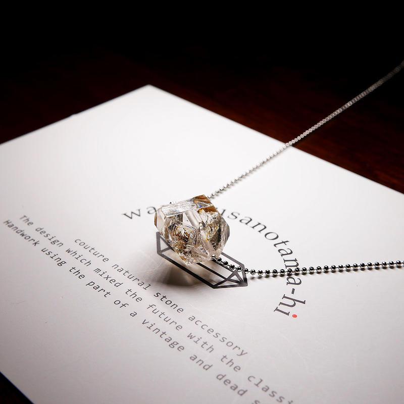 パキスタン産ヒマラヤ水晶クリスタル  ネックレス シルバー