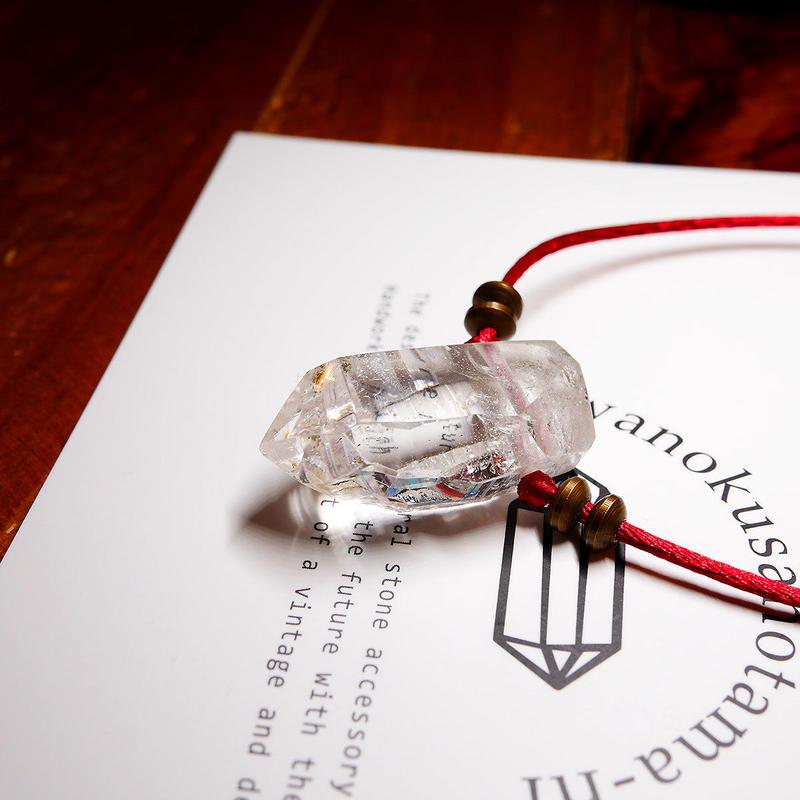 ガネーシュヒマール産ヒマラヤ水晶 真鍮パーツネックレス SRB