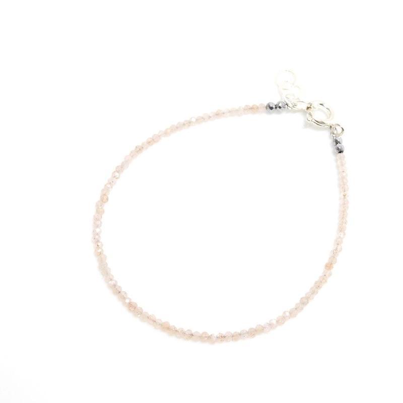 ピンクオパール  ブレスレット シルバー(17cm)