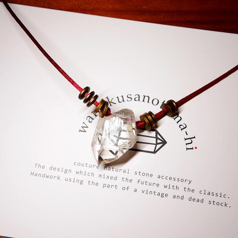オーダーナンバーA10856【 S様ご予約分 】ガネーシュヒマール産ヒマラヤ水晶 真鍮パーツネックレス
