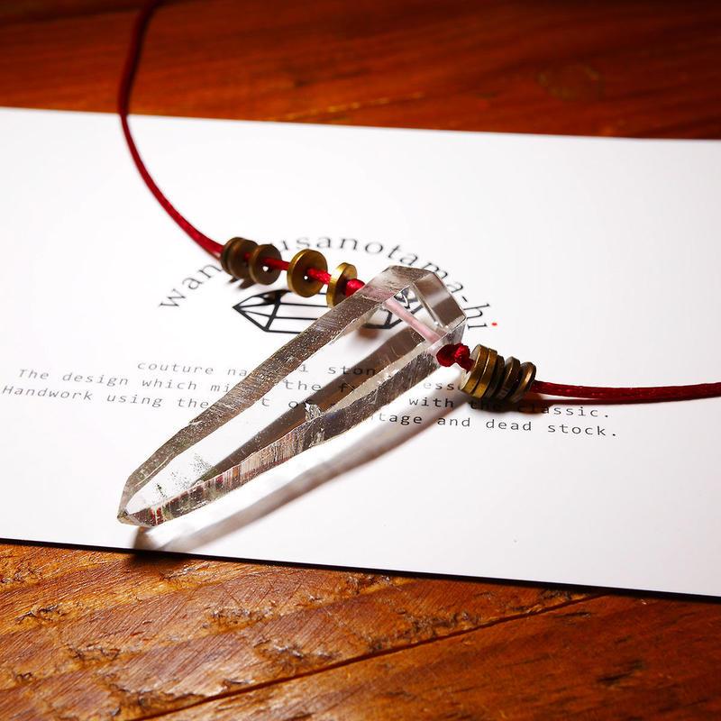 ガネーシュヒマール産ヒマラヤ水晶 真鍮パーツネックレス SRF