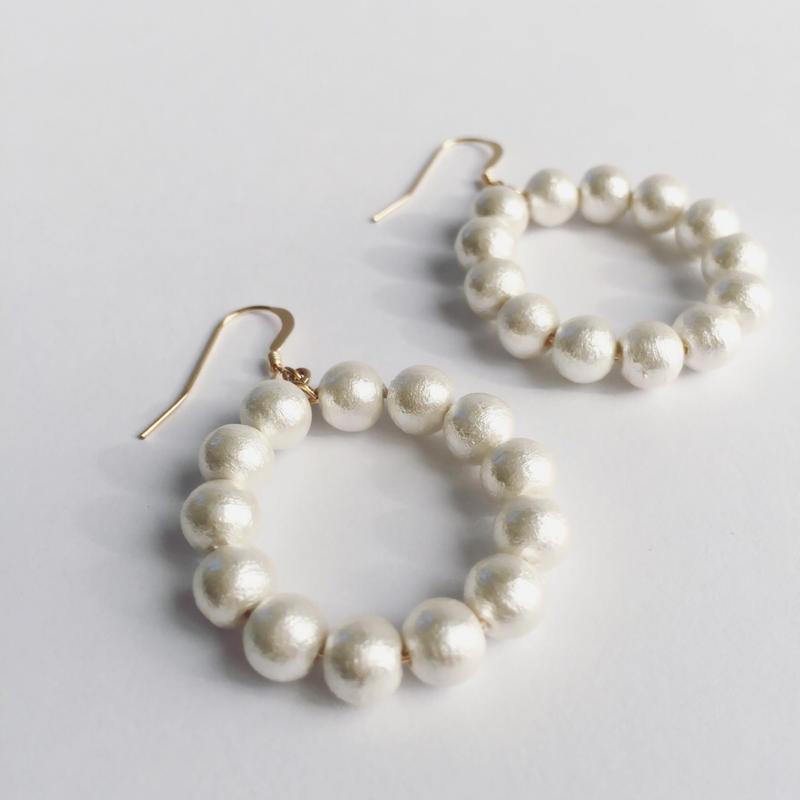 14kgf/cotton pearl hoop piercer