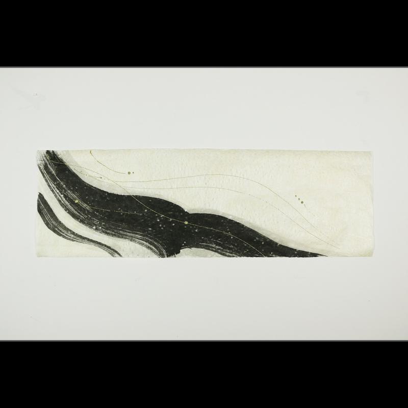 創作デザイン落水和紙(墨)(商品番号:as-1511030)