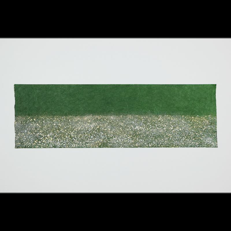 創作デザイン和紙 緑色(しぶき)(商品番号:as-160102)