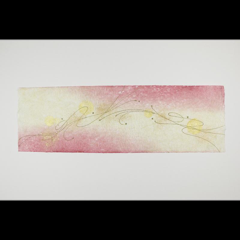 創作デザイン落水和紙(本金)(商品番号:as-161002)