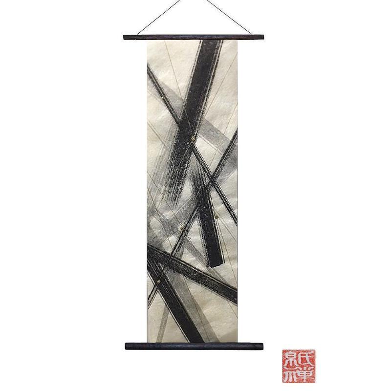 創作和紙インテリアタペストリー「紙禅」~Shi-Zen/和モダン墨デザイン29