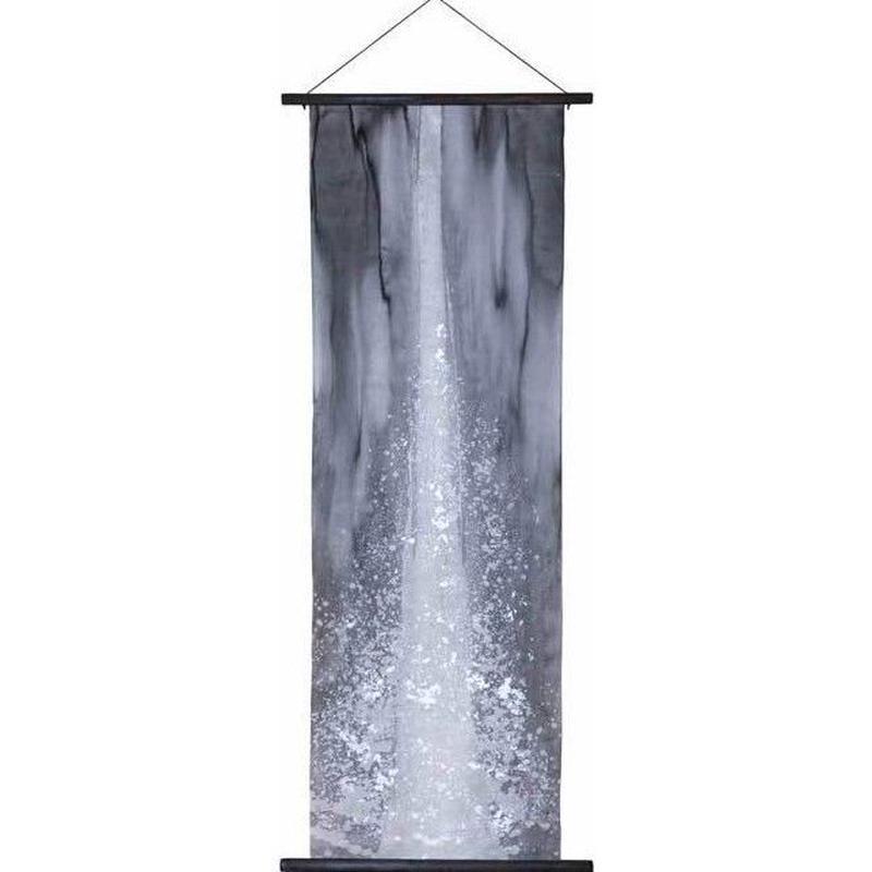 創作和紙インテリアタペストリー「紙禅」~Shi-Zen和モダン滝~Waterfall /染め・銀箔