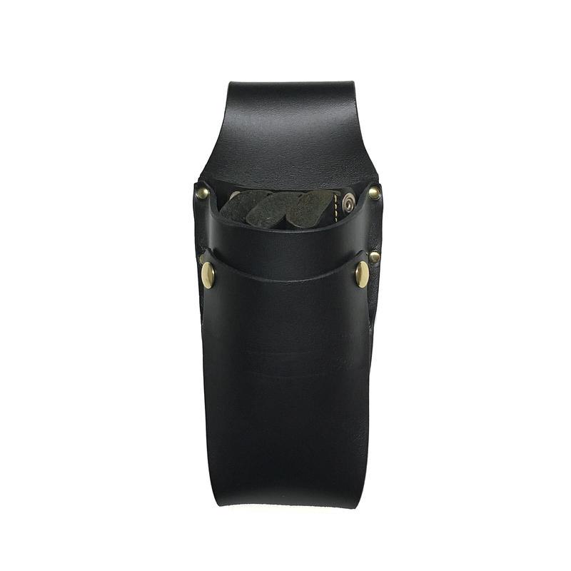 シザーケースBasic 黒ヌメ革