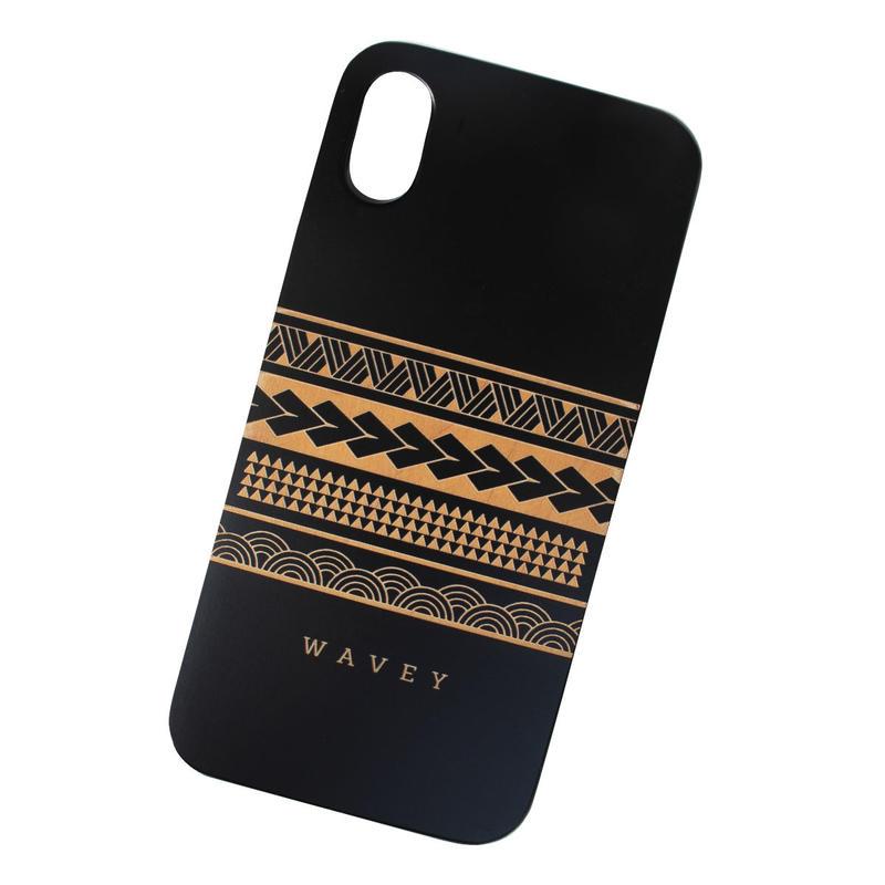 【iPhone XS対応】LĀʻAU iPhone case -Iāpana x Hawai'i- BLACK