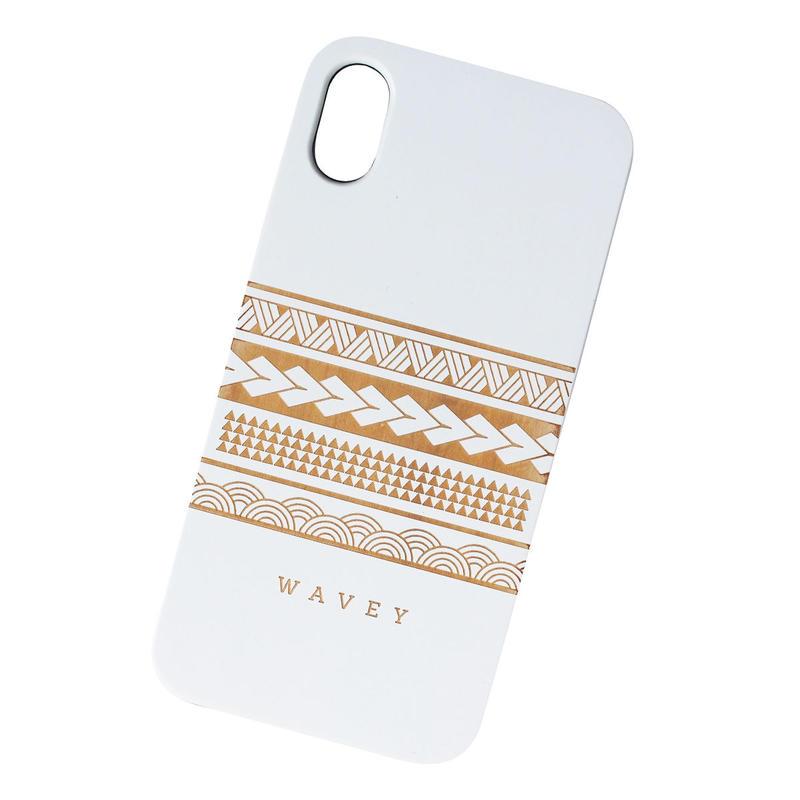 【iPhone XS対応】LĀʻAU iPhone case -Iāpana x Hawai'i- WHITE