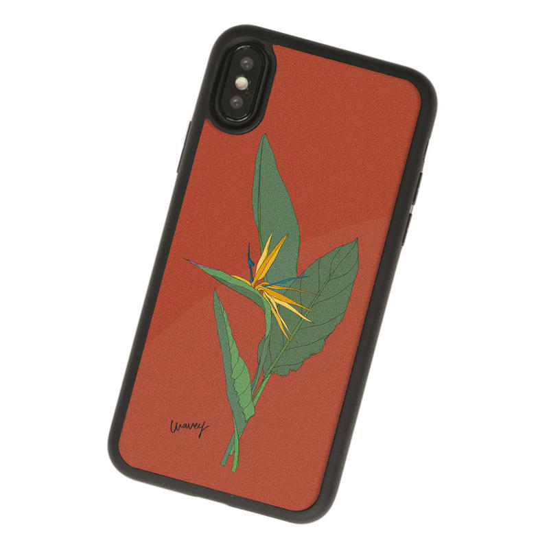 【iPhone XS, XS MAX対応】FALLIN STRELITZIA Acrylic iPhone case