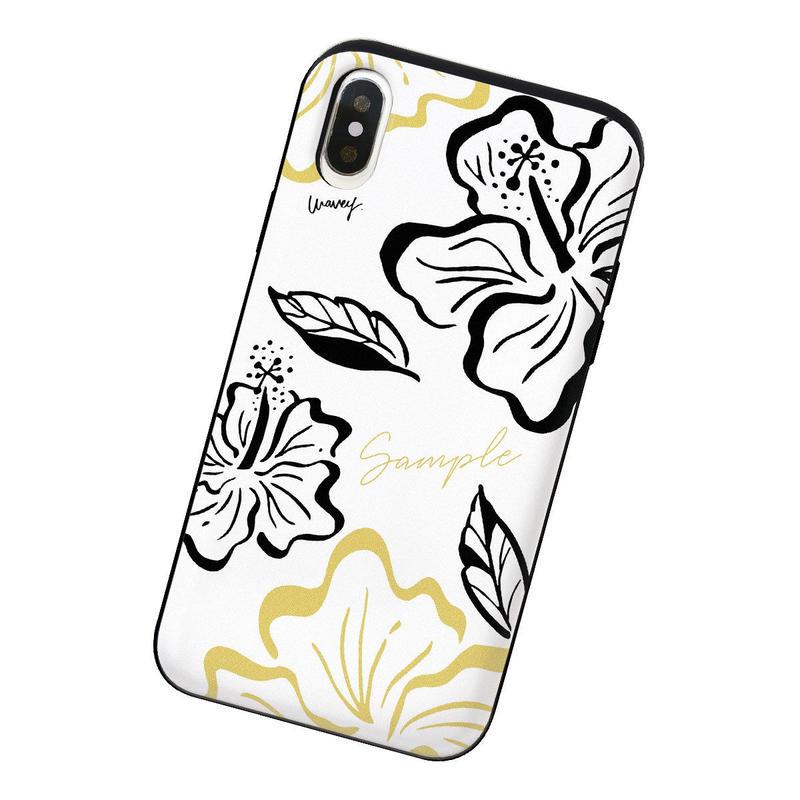 [Custom] Vintagey PUA ALOALO -Keʻokeʻo- iPhone case + IC card